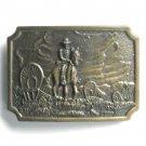Vintage Cowboy Trail Boss Bronze color metal alloy belt buckle