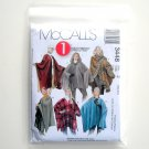 McCalls 1 Hour Misses Ponchos Size Z Xlg - Xxl Sewing Pattern 3448