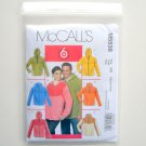 McCalls 6 Great Looks Misses Mens Tops Unlined Jackets Size XN Xlg - XXxl Sewing Pattern M5538