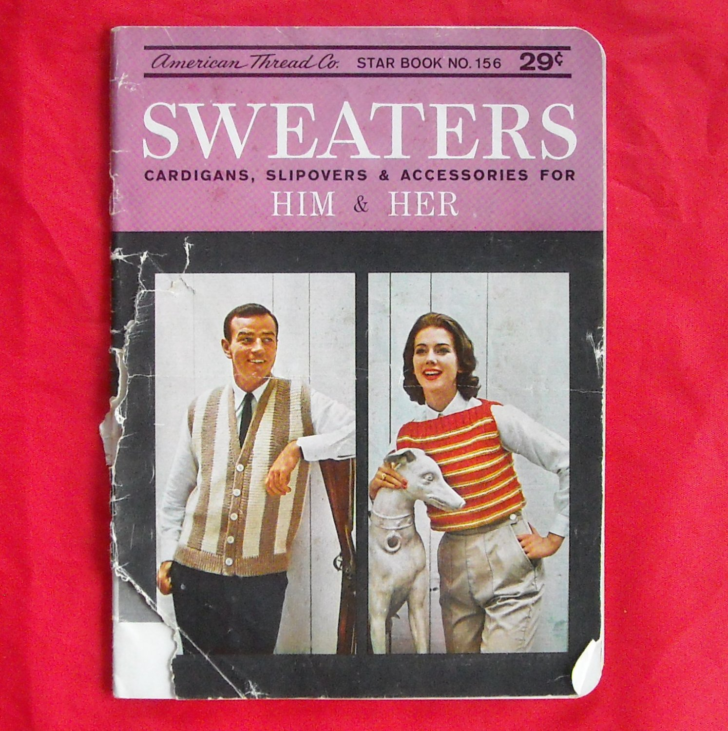 Vintage Star Book no 156 Sweaters for him and her patterns