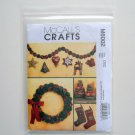 McCalls Crafts Stockings Wreath Tree 2 Sizes Ornaments Garland Sewing Pattern M6002