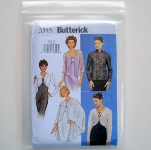 Butterick Misses Jacket Cape Sewing Pattern Size 6 8 10 B3345