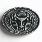 Taurus The Bull Pewter Metal Alloy Belt Buckle