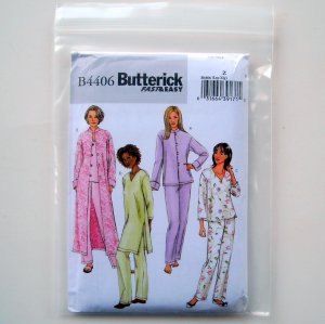 Butterick Misses Petite Jacket Robe Top Tunic Pants Dress Sewing Pattern Size Z B4406