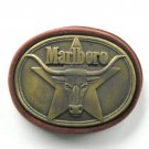 Vintage Philip Morris Marlboro Solid Brass belt buckle