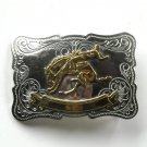 Vintage Bucking Horse Rodeo Nickel Silver belt buckle