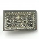 Vintage Hand Engraved Silver Color Alloy belt buckle