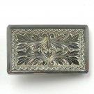 Vintage Hand Engraved Silver Color Alloy Belt Buckle