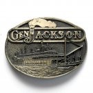General Jackson Steamboat Award Design Solid Brass Belt Buckle