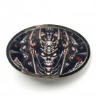 Tattoo Johnny Devil Design Silver Color Metal Alloy Belt Buckle