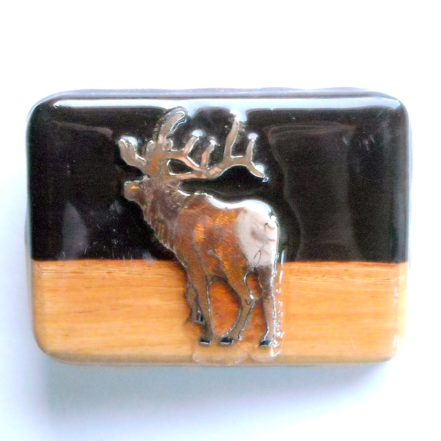 Elk Decor Wood Belt Buckle