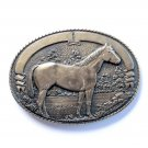 Vintage Tony Lama Quarter Horse Western Solid Brass Belt Buckle