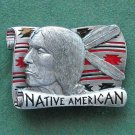 Vintage Native American 3D pewter belt buckle