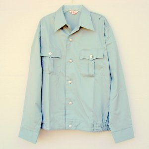 Eichsfeld Konfektion Germany Mens Uniform Jacket Shirt Light Blue Green