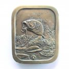 Bass Fishing Solid Brass Vintage 1976 belt buckle