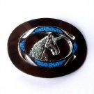 Unicorn Head Faux Turquoise Silver Color Belt Buckle