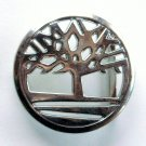 Round Celtic Tree Of Life Open Metal Alloy Silver color belt buckle