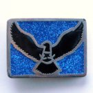 Vintage Flying Eagle PSS Silver Color Metal Alloy belt buckle
