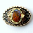 Western Cabochon Stone Gold Silver Color Metal Alloy belt buckle