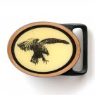 Vintage American Bald Eagle Brass Metal Alloy Tech Ether Guild Belt Buckle