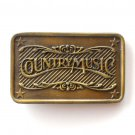 Country Music Vintage Brass Alloy Indiana Metal Craft belt buckle