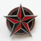 Star Circle Red Black Enamel Pewter Metal Alloy Great American belt buckle
