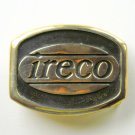 Illinois Railway Equipment IRECO Anacortes Solid Brass Vintage Belt Buckle