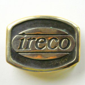 Illinois Railway Equipment IRECO Anacortes Solid Brass Vintage belt buckle +