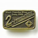 Black Thunder Mine 2 Million Tons Anacortes Solid Brass Limited Edition # 53 belt buckle
