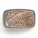 Old No 7 Jack Daniels Silver Color Alloy Belt Buckle