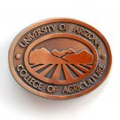 UA University Of Arizona Copper Metal Belt Buckle
