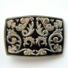 Ornate Brass Color metal alloy unisex belt buckle