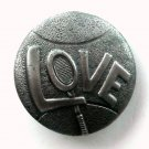 LOVE Tennis Pewter Color Made In USA Vintage Belt Buckle