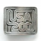USA Forever United States Bicentennial Silver Color Vintage Made In USA Belt Buckle