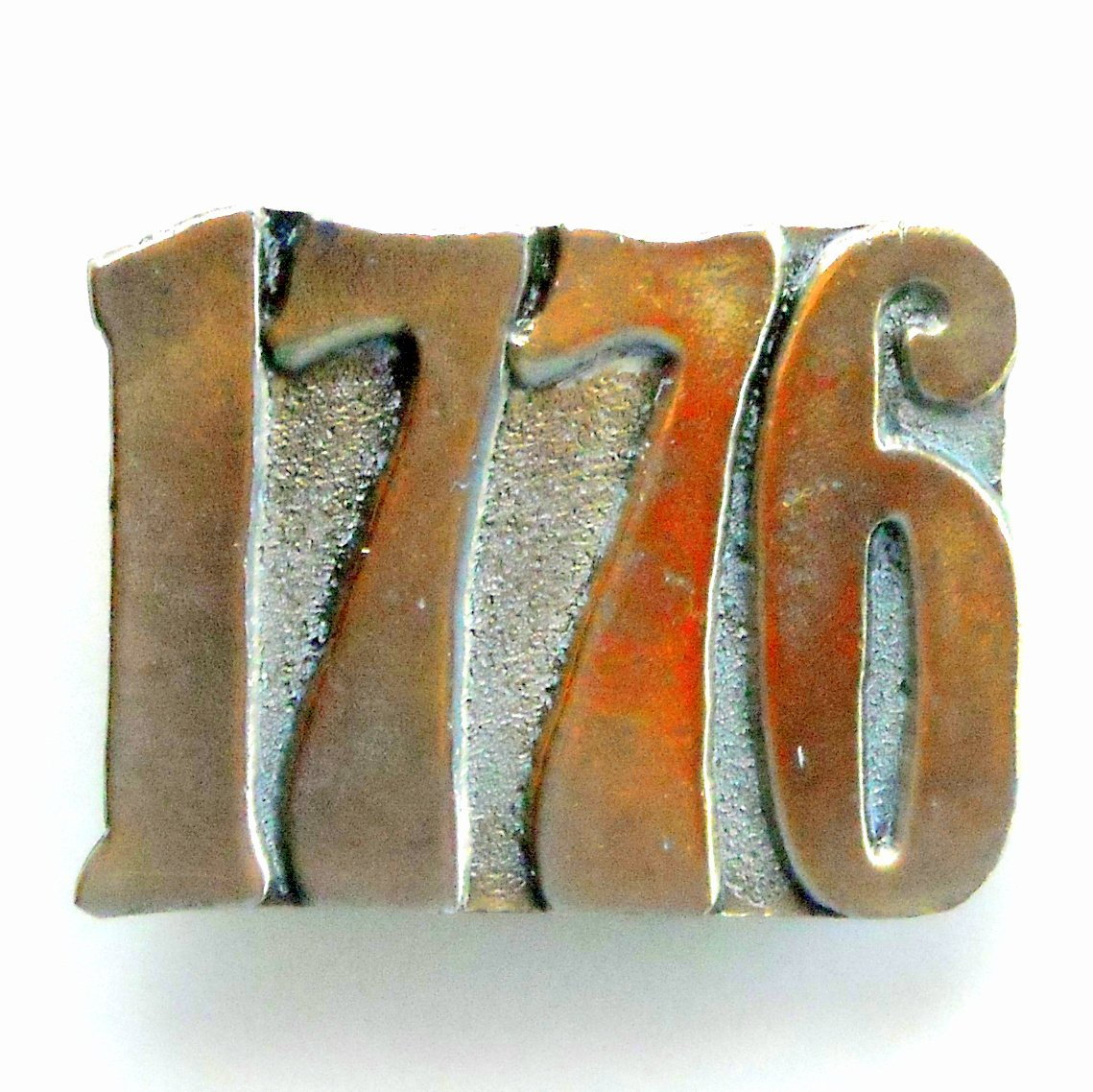 1776 United States Bicentennial Brass color metal alloy Vintage Made In USA belt buckle