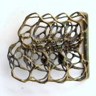 Artisan Handmade Unique Vintage Freeform Solid Brass Alloy Belt Buckle