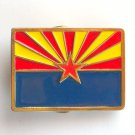 Arizona Flag Vintage 1984 Great American Brass alloy belt buckle
