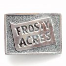 Frosty Acres Silver Color Metal Vintage Belt Buckle