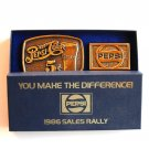 Pepsi You Make The Difference brass belt buckles