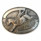 Trophy Buckle Bronco Rider Tony Lama Solid Brass belt buckle