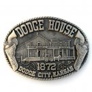 Dodge House City Kansas Award Design Solid Brass belt buckle