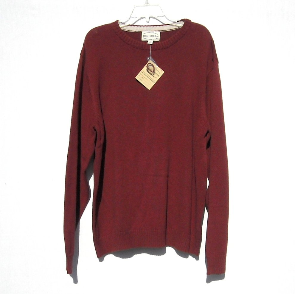High Sierra Cotton Knit Mens Sweater Size Xl