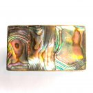 Vintage Alpaca Abalone Sea Shell Belt Buckle