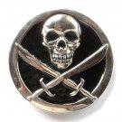 Pirate Skull Swords Metal Belt Buckle