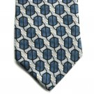 Barrington Blue Design Mens Silk necktie tie