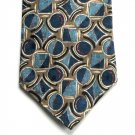 I Am Je Suis Blue Design Mens Silk necktie tie