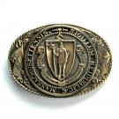 Tony Lama The Great Seal Of The State Of Massachusetts Brass Pre-Owned belt buckle