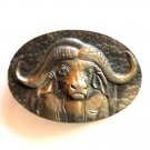 Fred Boyer African Ox 3D Limited Edition Solid Bronze Belt Buckle