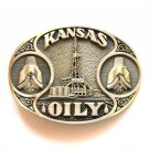 Kansas OILY Award Design solid brass belt buckle