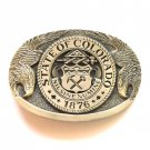 State Of Colorado Award Design solid brass belt buckle